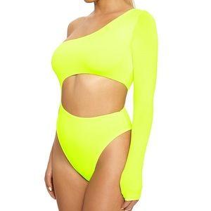 Nakedwardrobe lemon lime cut out Bodysuit